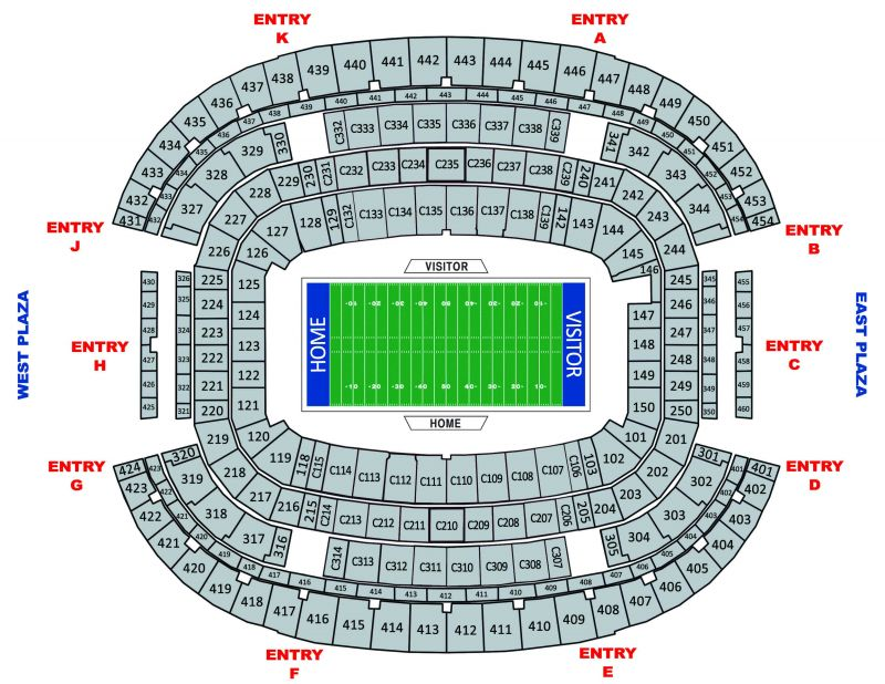 At T Stadium Seating Chart